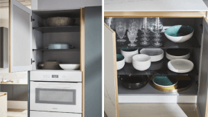 Examples of storage in German kitchen design